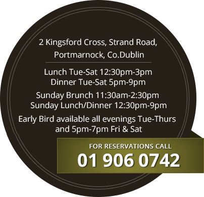 Restaurant address and opening hours